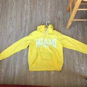 Yellow Miami Beach Hoodie